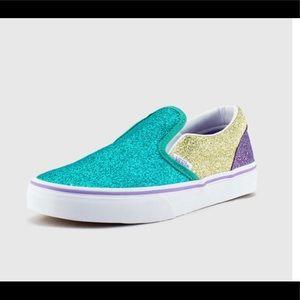 Vans Grade School Mermaid Glitter Classic Slip-On